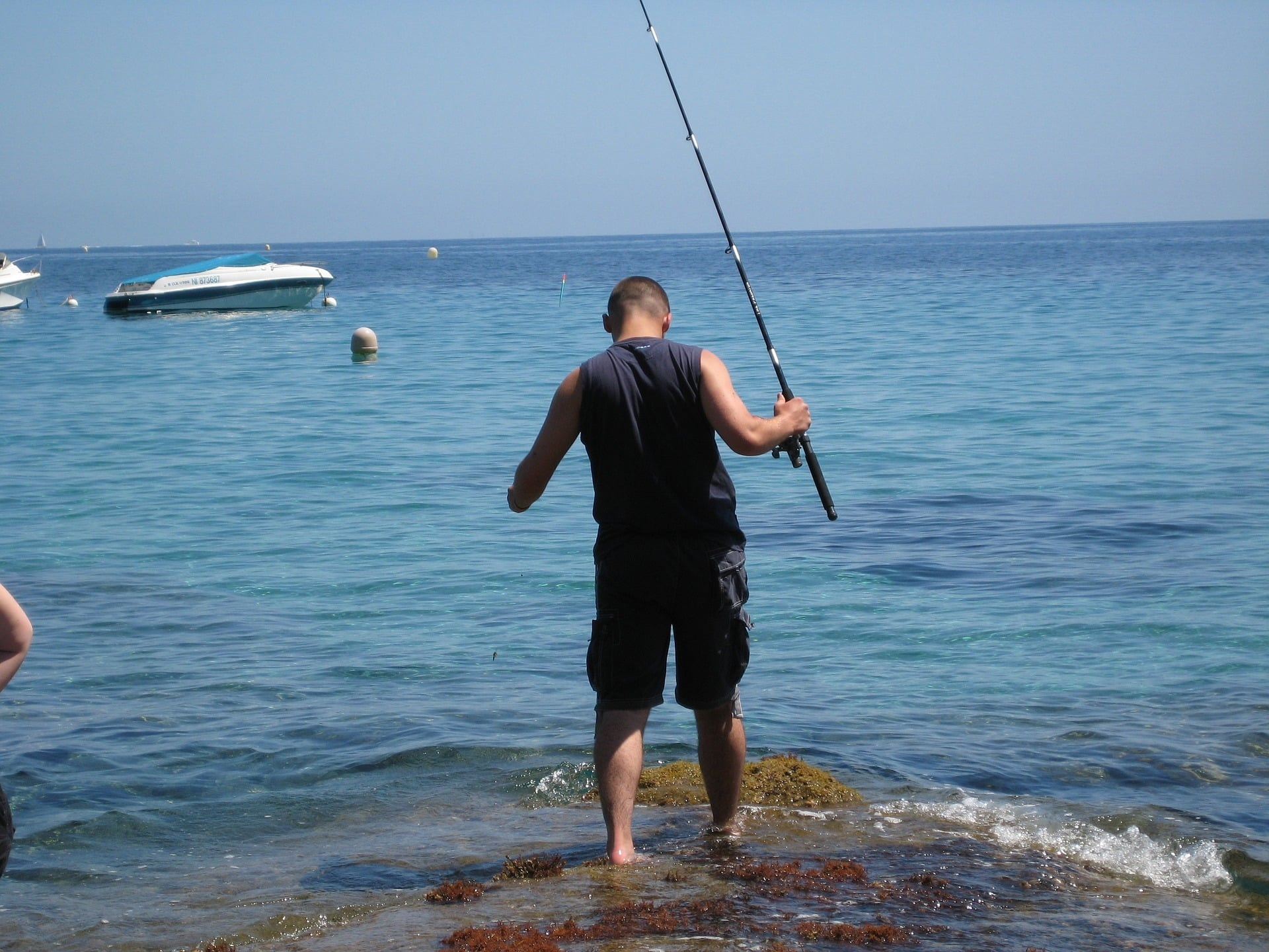 A Man with Fishing Tackle